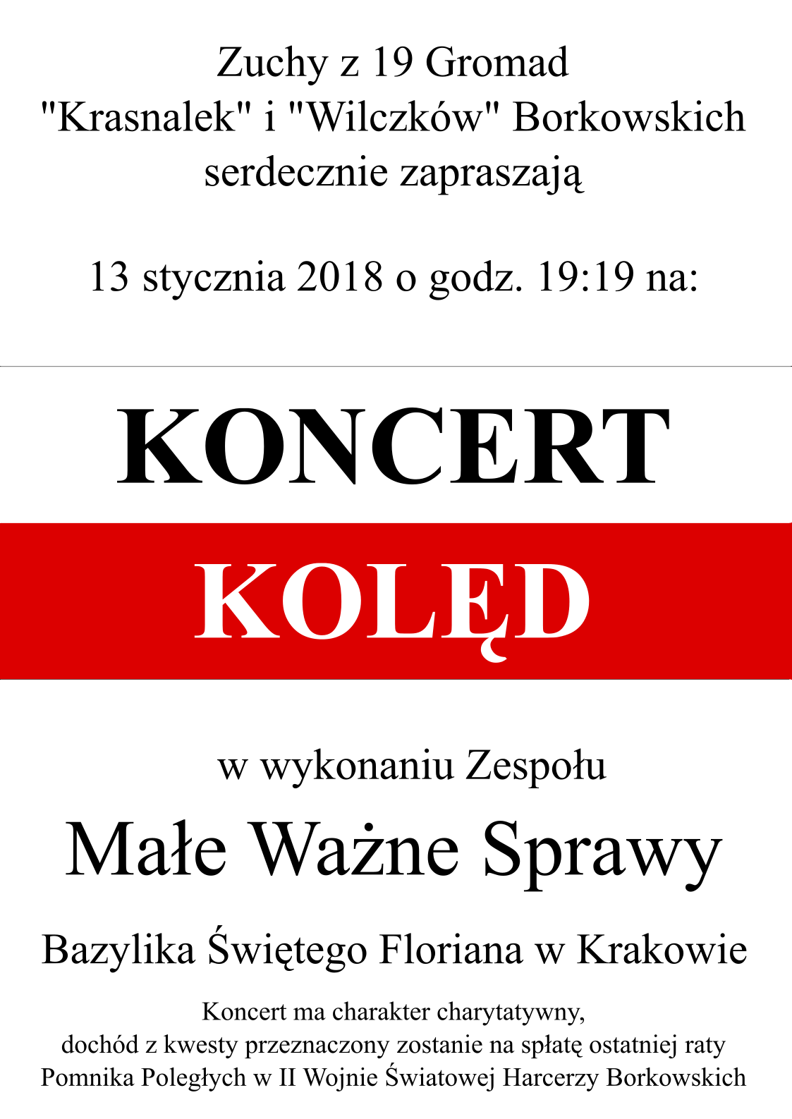koncert kolęd Kraków